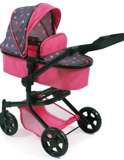 Poppenwagen MIka Sterren Pink