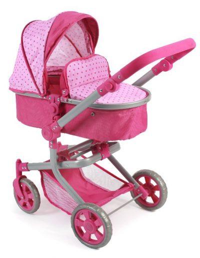 Poppenwagen Mika Dots Pink